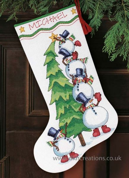 Trimming The Tree Stocking Cross Stitch Kit